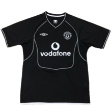 2000-2002 Man Utd Black Goalkeeper Retro Soccer Jersey