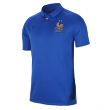 2019 Frence Blue 1:1 Quality 100th Anniversary Fans Soccer Jersey