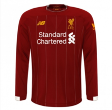 2019/20 Liverpool Home Red Long Sleeve Soccer Jersey