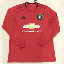 2019/20 Man Utd Home Red Long Sleeve Soccer Jersey