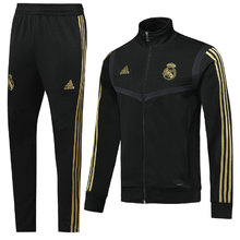 2019/20 Real Madrid Black Jacket Tracksuit