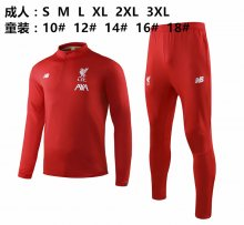 2019/20 Liverpool Red Half Pull  Kids Sweater Tracksuit