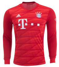 2019/20 Bayern Munich Home Red Long Sleeve Soccer Jersey