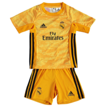 2019/20 RM Yellow Goalkeeper Kids Soccer Jersey