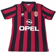 1996/1997 AC Milan Red And Black Home Jersey
