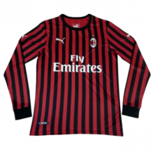 2019/20 AC Milan Home Red Long Sleeve Soccer Jersey