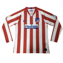 2019/20 Atletico Madrid Home Long Sleeve Soccer Jersey
