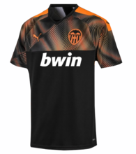 2019/20 Valencia Black Away Soccer Jersey
