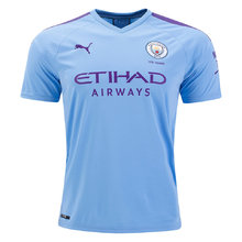 2019/20 Man City Home 1:1 Quality Blue Fans Soccer Jersey