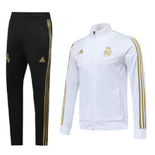 2019/20 Real Madrid White Jacket Tracksuit