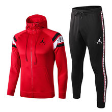 2019/20 PSG Paris Jordan Red Hoodie Jacket Tracksuit