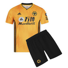 2019/20 Wolves Home Yellow Kids Soccer Jersey