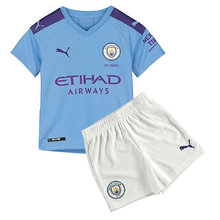 2019/20 Man City Home Blue Kids Soccer Jersey