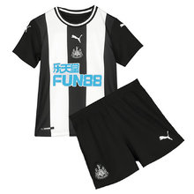 2019/20  Newcastle Home Black And White Kids Soccer Jersey