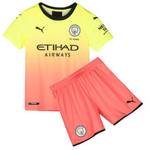 2019/20 Man City Away Kids Soccer Jersey