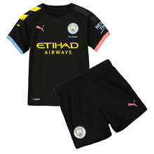 2019/20 Man City Away Black Kids Soccer Jersey