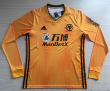 2019/20  Wolves Home Yellow Long Sleeve Soccer Jersey