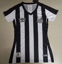 2019/20 Santos Away Black  And White  Women Soccer Jersey