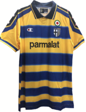 1999-00 Parma Away Yellow Retro Soccer Jersey
