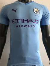 2019/20 Man City Home Blue Player Version Soccer Jersey