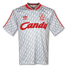 1989-1991 Liverpool Away Retro Soccer Jersey
