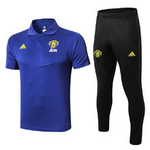 2019/20 Man Utd Blue Polo Tracksuit