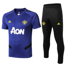 2019/20 Man Utd Blue V collar Tracksuit