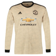 2019/20 Man Utd Away Long Sleeve Soccer Jersey