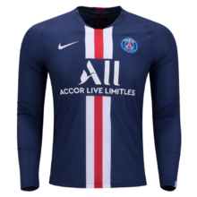 2019/20 PSG Paris Home Blue Long Sleeve Soccer Jersey