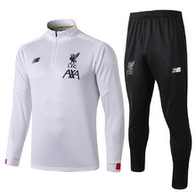 2019 Liverpool White Half Pull Sweater Tracksuit