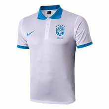 2019/20 Brazil White Polo Short Jersey