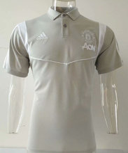 2019/20 Man Utd Gray White Polo Short Jersey