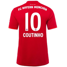 COUTINHO #10 Bayern Munich Home Red Fans Soccer Jersey 19/20
