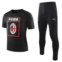 2019/20  AC Milan Black Adult Suit Tracksuit