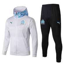 2019/20  Marseille White  Hoody Zipper Jacket Tracksuit