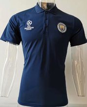 2019/20 Manchester City UCL Blue Polo Short Jersey