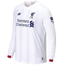 2019/20 Liverpool Away White Long Sleeve Soccer Jersey