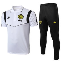 2019/20 Man Utd White Polo Tracksuit