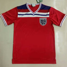 1982 England Away Red Retro Soccer Jersey