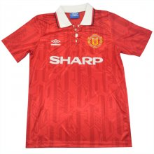 1994 Man Utd Home Red Retro Soccer Jersey