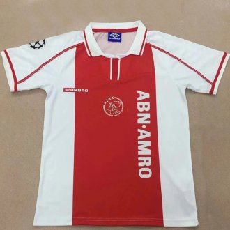 1998 Ajax Home Retro Soccer Jersey
