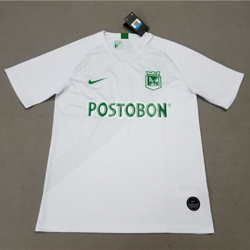 19/20 Atletico Nacional Away White Fans Soccer Jersey