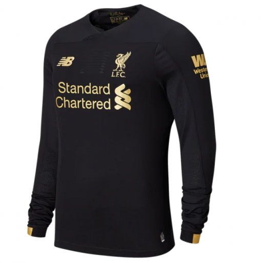2019/20 Liverpool Black Goalkeeper Long Sleeve  Soccer Jersey