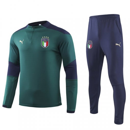 2019/20  Europe Italy Green Half Pull Sweater Tracksuit