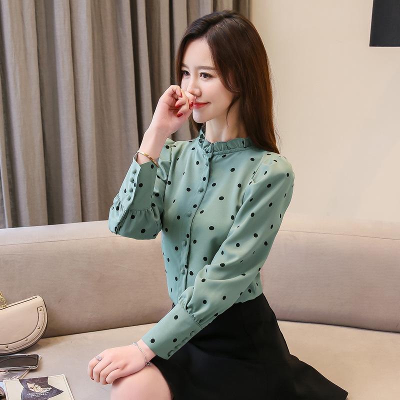 b031ab2e9 ربيع جديد ربيع الشيفون قميص المرأة آلة القلب تحظى بشعبية كبيرة على الشعور  تصميم الملابس من القميص البندلا: GS16761000108