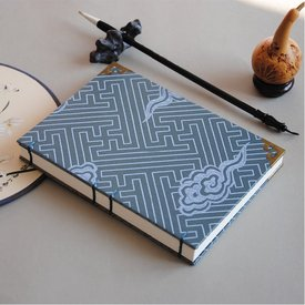 Notebook / Banding Gufeng Oracle Bone Inscriptions and Brocade Satin Cover with Cloud Pattern