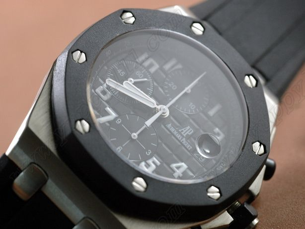オーデマ・ピゲAudemars Piguet Royal Oak Offshore Chrono SS Black Asia 7750自動巻き