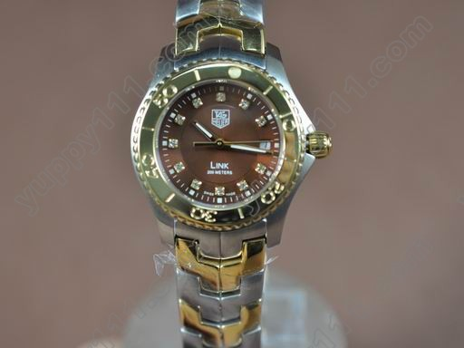 タグホイヤーTag Heuer Link Sports Ladies TT/TT Brown Diam S-Qtzクオーツ腕時計