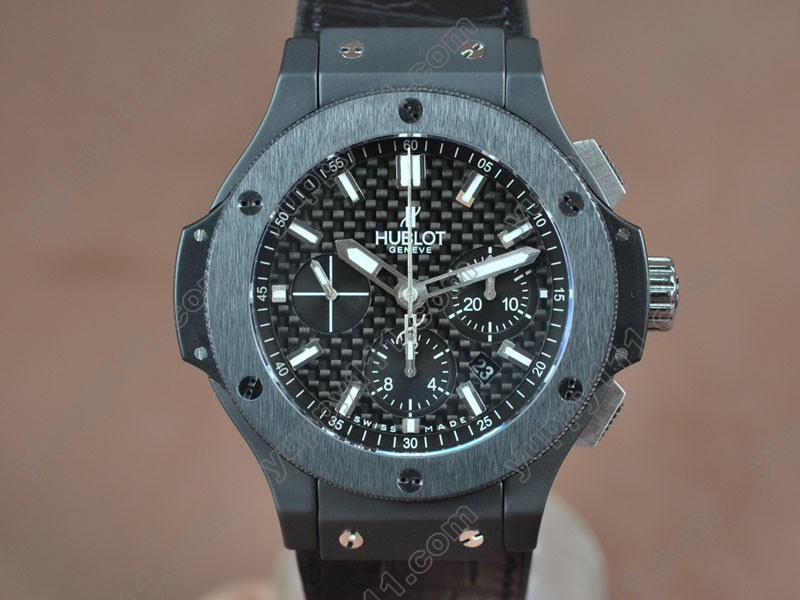 ウブロHublot Big Bang 44mm All Black Full Ceramic Carbon dial A-7750自動巻き