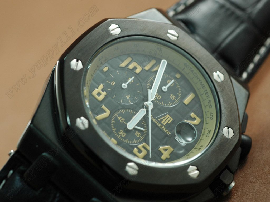 オーデマ・ピゲAudemars Piguet Watches Arnold Limited Ed Royal Oak Chrono PVD Blk Jap クオーツ Ch